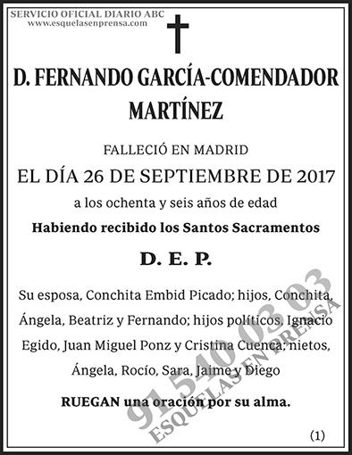 Fernando García-Comendador Martínez